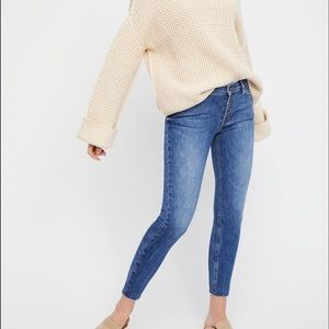 Free People Reagan Button Front Skinny Jeans